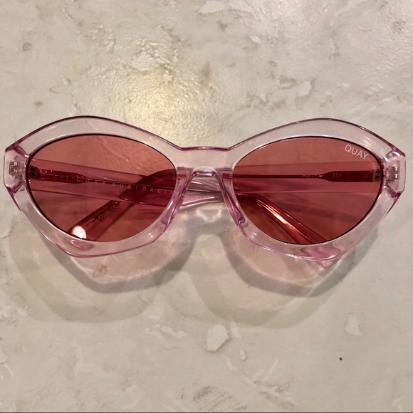 """79e1296bc6 QUAY """"AS IF"""" Sunglasses in Pink on Pink"""